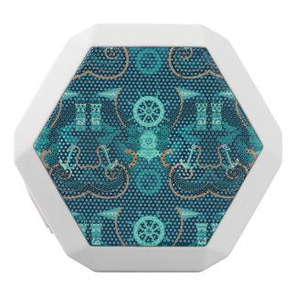 航海ので青いデザイン ホワイトBluetoothスピーカー