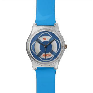 航海のなあなたの(ボートの)名前の生命リング 腕時計