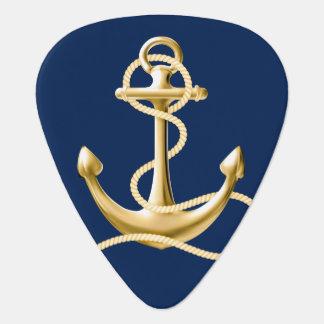 航海のないかりのギターの一突きの濃紺 ギターピック