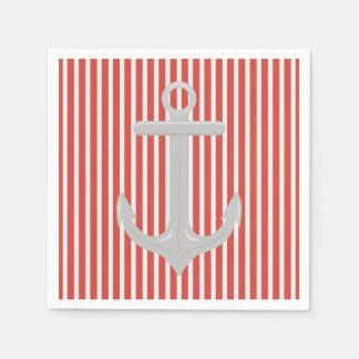 航海のないかりのコントラストパターン紙ナプキン スタンダードカクテルナプキン