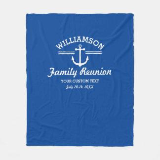 航海のないかりの家族会旅行の巡航のビーチ フリースブランケット