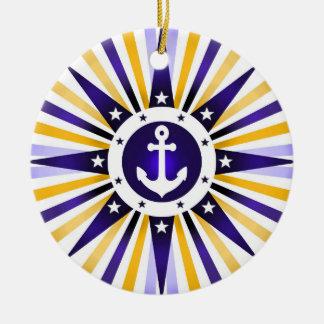 航海のないかりの愛国心が強いクリスマスのオーナメント セラミックオーナメント