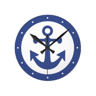 航海のないかりの柱時計 ラウンド壁時計