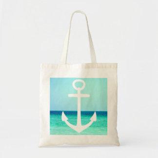 航海のないかりの海の写真のバッグ トートバッグ