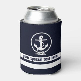 航海のないかりパターンモノグラムはとの文字を加えます 缶クーラー