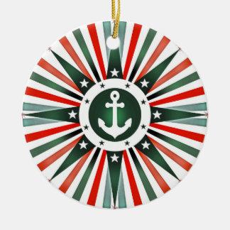 航海のないかり海軍クリスマスの休日のオーナメント セラミックオーナメント