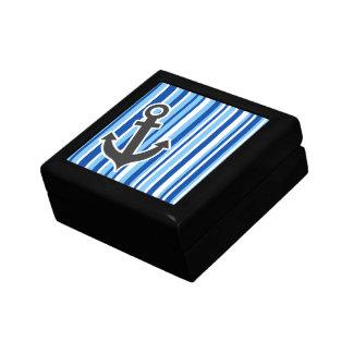 航海のないかり; 青及び白のストライプ ギフトボックス