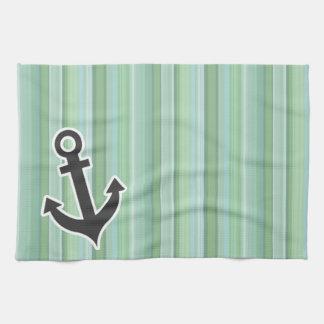 航海のないかりSeafoam、セージグリーン、及び空色 キッチンタオル