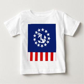 航海のなアメリカのヨットの旗の記号 ベビーTシャツ