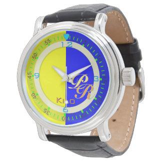 航海のなアルファベットの旗のキロの手紙K 腕時計