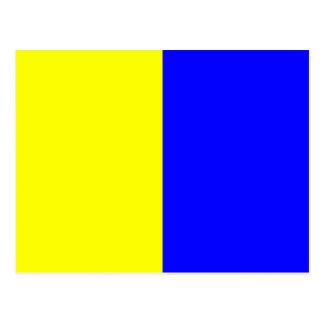 航海のなアルファベットの旗信号の手紙K ポストカード