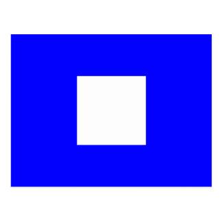 航海のなアルファベットの旗信号の手紙P ポストカード