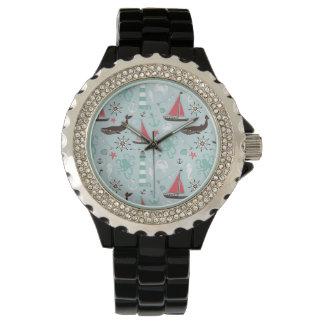 航海のなオーシャンブルーは上がり、 腕時計