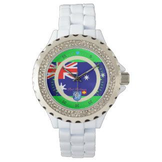 航海のなオーストラリアの旗の港Richman 腕時計