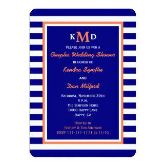 航海のなカップルの男女共学のウェディングシャワーの招待状 カード