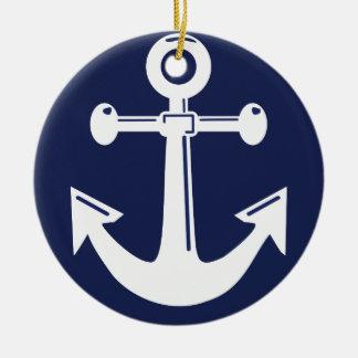 航海のなクリスマスのオーナメントの濃紺 セラミックオーナメント