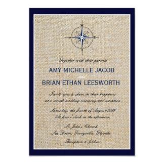 航海のなコンパスかヨットクラブ海軍ビーチ結婚式 カード