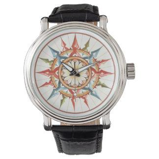 航海のなコンパス面図 腕時計