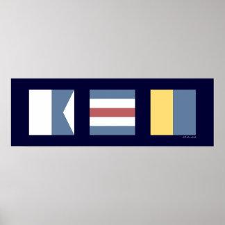 航海のなシグナルフラグACK Nantucket ポスター