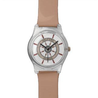 航海のなタンの大尉のWheel Watchの歓迎 腕時計