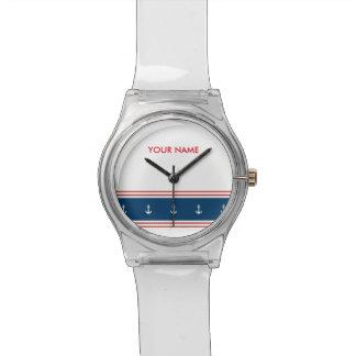 航海のなテーマのカスタムな子供の腕時計 腕時計