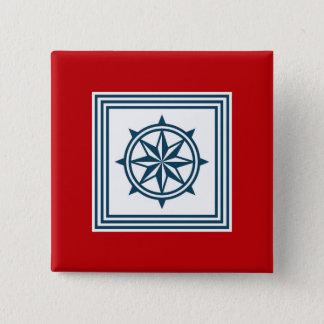 航海のなテーマのデザイン 5.1CM 正方形バッジ