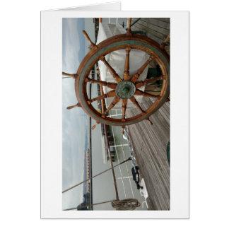 航海のなテーマのメッセージカード#1は車輪を出荷します カード