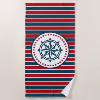 航海のなデザイン ビーチタオル