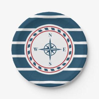 航海のなデザイン ペーパープレート