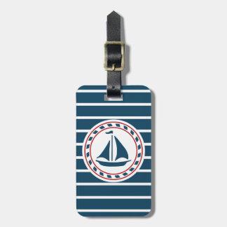 航海のなデザイン ラゲッジタグ