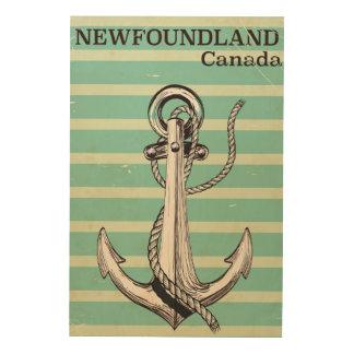 航海のなニューファウンドランドのカナダのヴィンテージ ウッドウォールアート