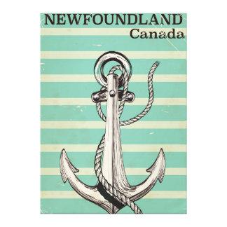 航海のなニューファウンドランドのカナダのヴィンテージ キャンバスプリント