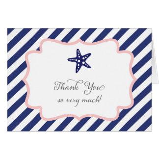 航海のなヒトデのサンキューカード カード