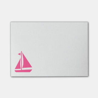 航海のなピンクのヨット-船のボート ポストイット