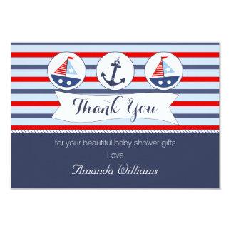 航海のなベビーシャワーのサンキューカード カード