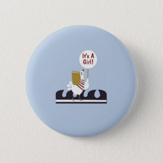 航海のなベビーシャワーのペリカンの女の子の好意ボタン 5.7CM 丸型バッジ