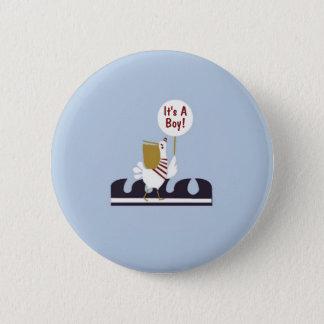 航海のなベビーシャワーのペリカンの男の子の好意ボタン 5.7CM 丸型バッジ