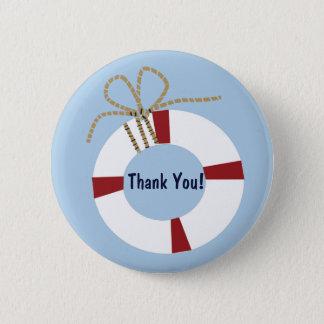 航海のなベビーシャワーのライフセーバーは好意Pin感謝していしています 5.7cm 丸型バッジ
