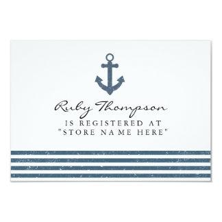 航海のなベビーシャワーの登録の挿入物カード カード