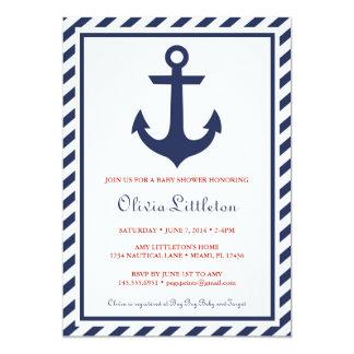 航海のなベビーシャワー招待状- Ahoyそれは男の子です カード