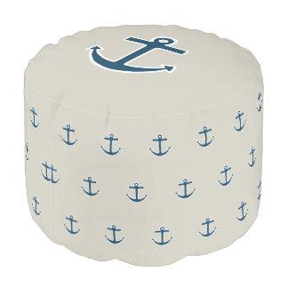 航海のなボートのいかりの枕Poufのオットマンの座席 プーフ