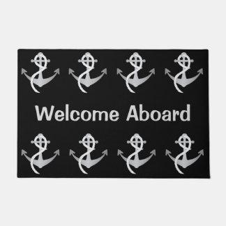 航海のなボートのマットの歓迎 ドアマット