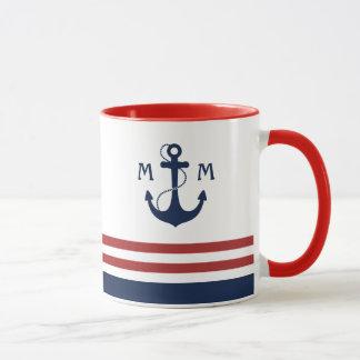 航海のなモノグラム マグカップ