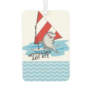 航海のなユーモアの鮫のヨットはいいえ、結構です。ちょうど食べました カーエアーフレッシュナー