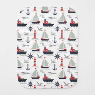 航海のなヨットの船員の幼児男の子のシャワーのギフト バープクロス