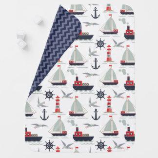 航海のなヨットの船員の男の赤ちゃんの子供部屋の装飾 ベビー ブランケット