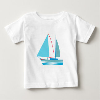 航海のなリビエラの夏の帆ボートのヨット ベビーTシャツ