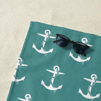 航海のなロープパターン|を持ついかり ビーチタオル