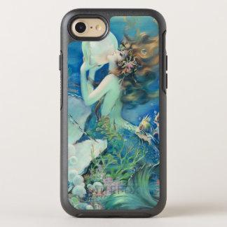 航海のなヴィンテージの人魚wの真珠の航海のな海 オッターボックスシンメトリーiPhone 8/7 ケース