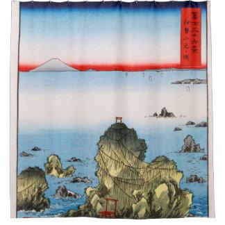 航海のな伊勢国HiroshigeのFutami湾 シャワーカーテン